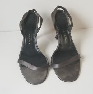Richard Tyler strappy satin shoes